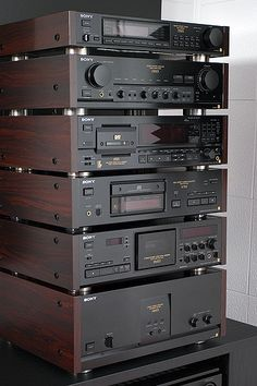 Sony ES series Hi-Fi system. Som Retro, Audio Vintage, Mc Intosh, Sony Electronics, Audio Rack, Cd Player, Hi Fi System, Audio Sound, Music System