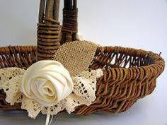 Hey, I found this really awesome Etsy listing at https://www.etsy.com/listing/103089399/wedding-flower-basket-flower-girl-rustic