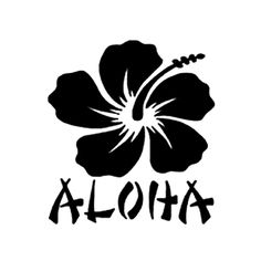 Aloha Die Cut Vinyl Decal for Windows, Vehicle Windows, Vehicle Body Surfaces or just about any surface that is smooth and clean Window Decals, Car Decals, Vinyl Decals, Car Stickers, Frases Aloha, Aloha Quotes, Machine Silhouette Portrait, Hawaiian Tattoo, Aloha Tattoo