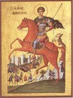 Saint St Demetrius / Demetrios - Orthodox Byzantine icon on wood handmade Byzantine Art, Byzantine Icons, Religious Images, Religious Art, Religious Paintings, Hl Georg, Paint Icon, Christian Devotions, Christian Faith