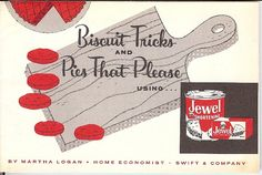 1958 Biscuit Tricks and Pies that Please Jewel Shortening