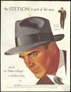 Stetson Whippet Hat 1951- nearly every man owned a hat like this. Vestidos  Pin d8aef713d08b