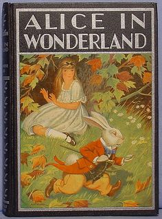 Vintage book cover #typography #illustration An eternal favourite, this was the cover of my childhood book I think? Alice in wonderland