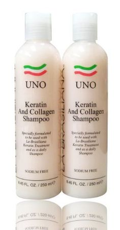 La Brasiliana Uno Keratin After Treatment Shampoo 8.45oz SET by La-Brasiliana. $33.45. La Brasiliana Uno Keratin After Treatment Shampoo 8.45oz SET. La Brasiliana Keratin After Treatment Shampoo is formulated to work with the La Brasiliana Keratin Treatment. This shampoo is great for all chemically treated hair enhancing Keratin and Collagen into the hair. It restores the luster and feel of baby soft hair. La Brasiliana products smoothe, add shine, soften, eliminate frizz a...