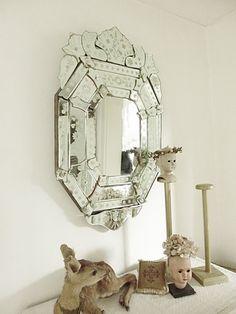 Beautiful art deco wall mirror venetian murano by CharmantCharmant