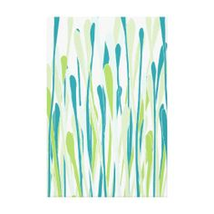 Freshen up your decor with this colorful wrapped canvas. Stylish with shades of spring grasses
