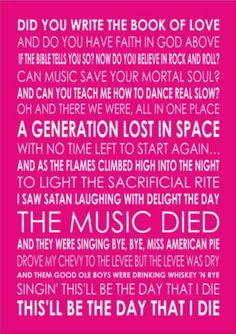 American Pie, Don McLean
