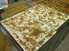 ΕΚΜΕΚ ΚΑΤΑΙΦΙ ΜΕ ΚΡΕΜ ΠΑΤΙΣΕΡΙ – Koykoycook Greek Desserts, Greek Recipes, Greek Dishes, Food And Drink, Sweets, Bread, Cooking, Creative, Art