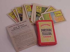 Old Gypsy Fortune telling cards