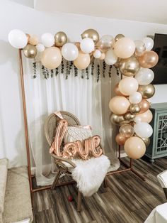 Rose Gold and Peach Balloon Garland Bride To Be Balloons, Rose Gold Balloons, Simple Birthday Decorations, Gold Wedding Decorations, Rose Gold Theme, Rose Gold Decor, Balloon Garland, Balloon Decorations, Bar Outfits