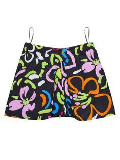 Floral Printed High Waist Double Button Stylish Women Short Pant - Gchoic.com
