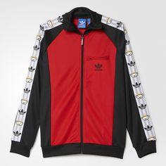adidas Retro Bear Track Jacket - Red | adidas US