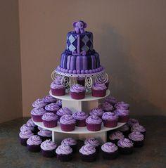 Lavender Buttercream Icing cupcakes, cake
