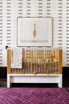 loving the wallpaper!  the perfect backdrop for a chic + inviting nursery.