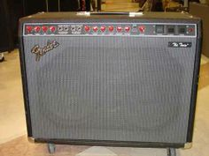 """Cesar Montecristo's Fender Red Knob """"Evil Twin Amp"""", used along with his Bogner Line 6 Spider MKII 100 HD, and a Fender Classic Twin Reverb in the """"Saints"""" new recordings! Fender Guitar Amps, Guitars, Evil Twin, New Saints, Marshalls, Havana, Musical Instruments, Knob, Spider"""