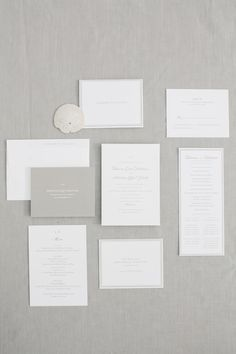 All-White Invitation Suites That Are Anything But Vanilla - Style Me Pretty