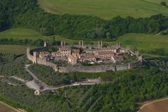 walled town near Siena