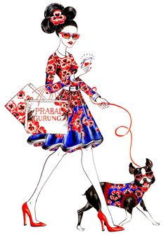 Prabal Gurung Girl, inspired by Prabal Gurung Resort 2014, Illustration by Sunny Guru| Be inspirational  ❥|Mz. Manerz: Being well dressed is a beautiful form of confidence, happiness & politeness