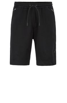 4e52a447 Slim-fit shorts in moisture-wicking water-repellent fabric - Black All  Clothing