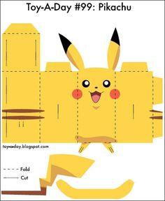 Pikachu para Recortar e Montar!: