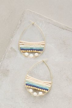 Baydrop Hoops - anthropologie.com