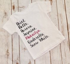 Customized disney princess list onesie disneyland first trip to cutest disney trip shirt for a princess httpsetsy negle Image collections