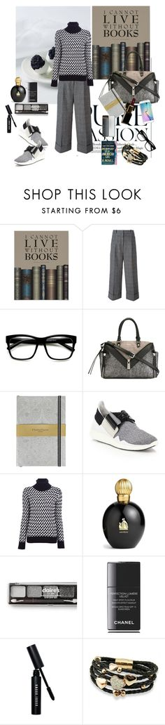 """""""Reader"""" by nathalie-puex ❤ liked on Polyvore featuring 3.1 Phillip Lim, Retrò, Diesel, Christian Lacroix, Y-3, Joseph, Lanvin, claire's, Chanel and Bobbi Brown Cosmetics"""