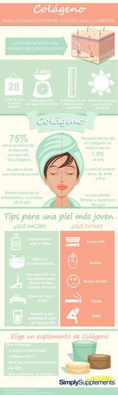 ¿Que hace el colágeno por nuestra piel? #infografia #colageno
