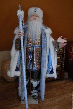 """Купить Кукла""""Дед Мороз"""" - голубой, Новый Год, эксклюзивный подарок, единственный экземпляр"""