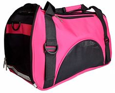 Kenox Soft Sided Dog Carrier Pet Travel Portable Bag Home for Dogs Cats and Puppies Medium Rosered * Click image to review more details.(This is an Amazon affiliate link and I receive a commission for the sales) #DogCarriers