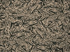 Gabi Foliage in Anthracite on Stone Cotton Twill #africanvibrations
