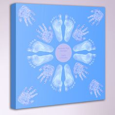 Hand & Footprint Canvas Hand and Footprint Canvas [] - £100.00 : Artful Kids