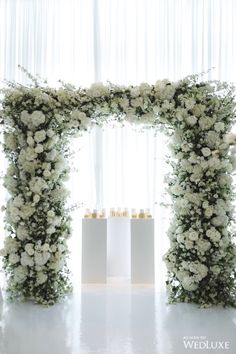 WedLuxe Magazine - The Global Authority on Luxury Weddings Flower Wall Wedding, White Roses Wedding, Floral Wedding, Wedding Flowers, Diy Wedding, Wedding List, Wedding Ideas, Wedding Catering, Wedding Events