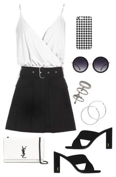 """Sin título #834"" by bethsalash ❤ liked on Polyvore featuring Boohoo, Acne Studios, Yves Saint Laurent, Melissa Odabash, Miss Selfridge and Alice + Olivia"