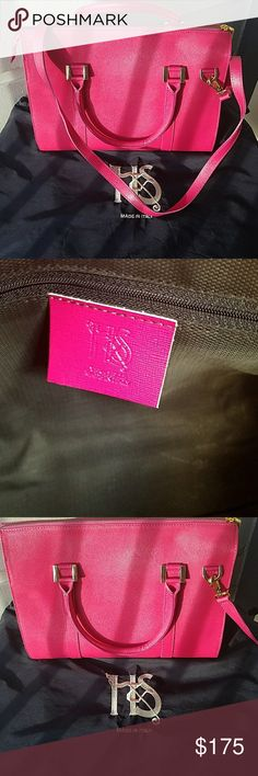 Auth Italian genuine leather vera pelle bag Gorgeous. AUTH. HOT PINK. Comes with Strap. Made and purchased from Italy vera pelle Bags