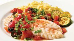 Filet de sébaste aux tomates et aux olives