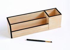 Make It: Minimal Wood Desk Organizer