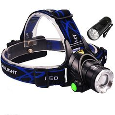 9 LED Flashlights GRDE Zoomable 3 Modes Super Bright LED Headlamp with Rechargeable Batteries, Car Charger, Wall Charger and USB Cable ** Find out more details by clicking the image : Camping stuff Led Cree, High Power Led, Hight Light, White Light, Batterie Rechargeable, Camping Lights, Lampe Led, Luz Led, Camping