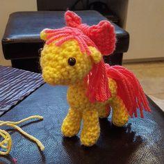 Apple Bloom #crochet #crocheted #crocheting #crochetaddict #crochetlove #instacrochet #yarnaddict #yarnaholic #amigurumidoll #amigurumi #handmade #mylittlepony #applebloom #ntkhooker #mlp #mylittlepony by veronik_g