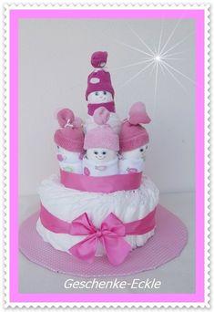 Windeltorte Wichtel Windeltorte rosa Söckchen von Geschenke-Eckle auf DaWanda.com