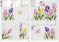 Flowers Graficos Diversos Em Ponto Cruz E De Barras Flores