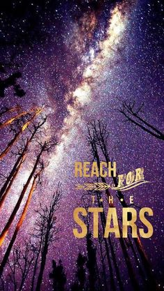 Reach for the stars... (Tia) iPhone 6 wallpaper background | #forest #trees #night #sky