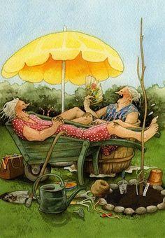 Inge Look illustrator. Old Women, Old Ladies, Getting Old, Illustrators, Illustration Art, Old Things, Artsy, Drawings, Creative