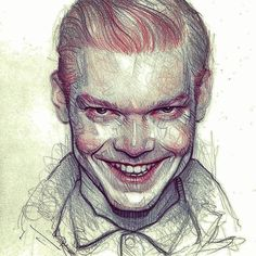 Because this guy is a fucking amazing young Joker. Love him! #Joker #JeromeValeska #CameronMonaghan #Gotham #villain #smile #Batman  #ginger #love #mad #twisted #killer #badass #psycho #drawingoftheday #draw #drawing #portrait #illustration #pencilart #pen #art #fanart #artbook #traditionalart #insta #instagram #instamood #instagood