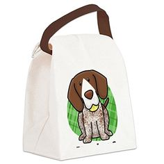 CafePress - kawaii-germanshorthair Canvas Lunch Bag - Canvas Lunch Bag with Strap Handle * Read more reviews of the product by visiting the link on the image.