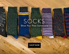 Stylish + Quality Men's Socks from the tie bar