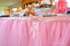 Pink tulle skirt dec