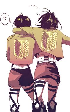 Levi & Hanji | Shingeki no Kyojin || ハンジ(リヴァハン)詰め② | みなみ [pixiv] http://www.pixiv.net/member_illust.php?mode=medium&illust_id=43025046 [please do not remove this caption with the source]