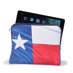 Texas Flag ipad case USA made from www.desden.com - great tablet sleeve for the proud Texan, just $16