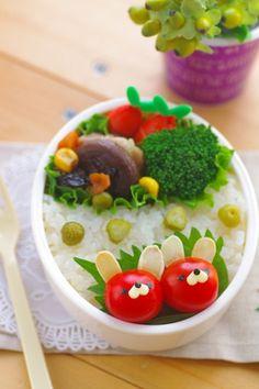 Easy-to-Make, Tomato Animals Bento Lunch|弁当